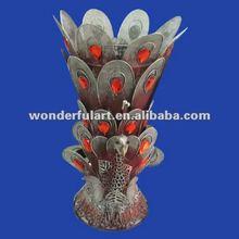 home ornament peacock handicraft metal decoration