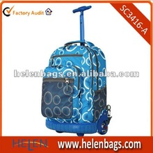 Custom Color and Material Brand Trolley Backpacks School