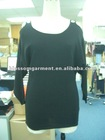 Woman Ladies 35% Cotton 27% Viscose 27% Nylon 8% Wool knitted long sleeve Pullover