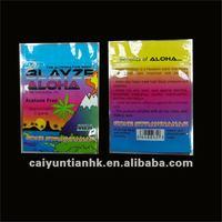Tropical view printed colorful mini spice potpourri zipper bag
