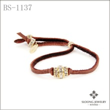 2012 new design fashion&promotional leather bracelet with coffee color
