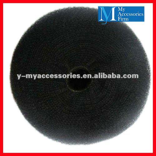 Black Hair Bun Pieces Black Synthetic Hair Bun