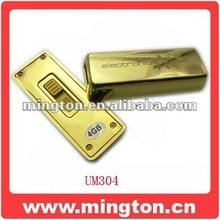 Metal gold bar pen drive wholesale