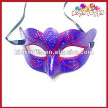 Mardi Gra Mask Purple Colour For Halloween With Glitter