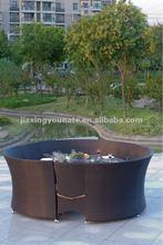 Outdoor rattan section sofa set UNT-R-921