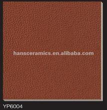 Leather like floor tile 60x60 YP6004,khaki color tile,brown floor tile