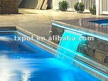 Fiber optic cable for swimming pool lighting