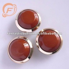 matt finished fashion sewing coat buttons with golden rim