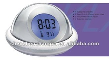 Talking alarm clock with natural sound