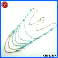 factory price hot sale multi strands acrylic beads style hula necklace for party