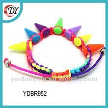 Punk Colorful Rivet Spike Stretch Bracelet