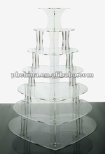 Clear Acrylic cupcake stand multideck acrylic cake tray for celebrate