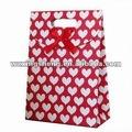 Venta al por mayor promoción de la alta calidad de regalo de papel de las compras promoción bolsa de papel manga pastelera