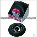 """& la rueda de montaje de neumáticos con el eje de la asamblea, 8"""" negro"""
