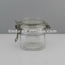 food grade jar transparent sealed cosmetic container