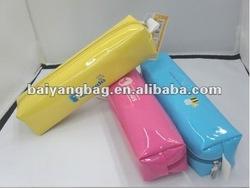 3 colors PU leather rectangle pencil bag