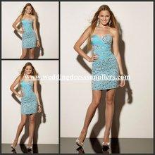 MLH9179 Amazing Short Strapless Sheath Mini Beaded Cocktail Dresses