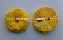 Posh! Yellow 8.5cm Jewl Centered Silk Hair Flower Hairpin for baby girls (F560-02)