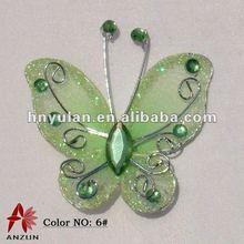 Hot Handicraft Decor Light Green Artificial Butterfly
