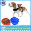 pet travel bowl silicone pet bowl