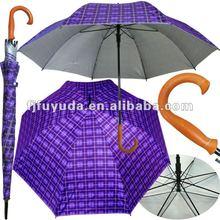 G32K promotional UV check purple golf umbrella