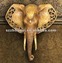 elephant statue/elephant sculpture/resin elephant wall hangings
