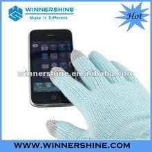 Handmade knitted touch screen glove