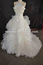 B2025 A-Line flower & Beading organze bridal dresses