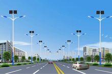 7m height double brackets street light pole