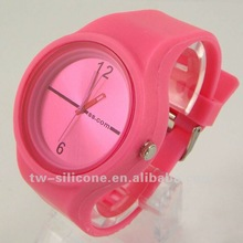 hot silicone round jelly shape cheap watches