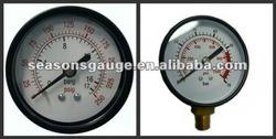 Black Steel Case Pressure Gauge Bourdon Tube