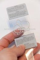 eco-friendly PP/PET/PVC printed clear plastic garment/clothing hang tag
