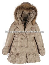 2012 Fashion down Jacket for Lady(Fox Fur and Rex Rabbit Fur hoody)