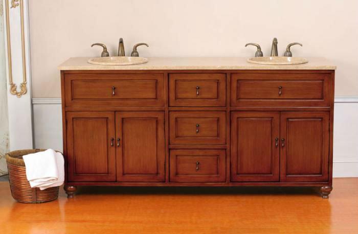 Lavabo Para Baño Antiguo:Antiguo doble lavabo vanidad con baño fregaderos-Cuarto de baño