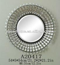 Metal & Acrylic Bead Round Wall Mirror