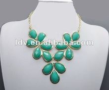 Artificial jewellery manufacturer 2012 chunky acrylic statement necklaces LDN1169