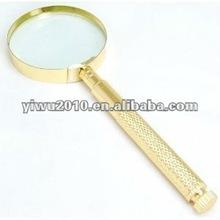 "4 in 1- 4x Brass Magnifier (2.5"") w/screwdrivers"
