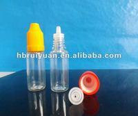 prevent leakage eyedrop bottle PE/PET plastic bottles childproof seal cap (ISO9001)