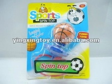 promotional toy plastic basketball spinning top