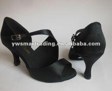 Satin black latin ballroom salsa dance shoes samba cha-cha, waltz, rumba shoes dropship worldwide paypal
