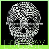 Fascinating skull rhinestone crown embellishments