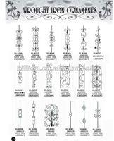china factory cast iron railing parts design for railings fence gates