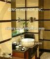 Seguridad en el baño de vinilo backed espejo de cristal de la qingdao, De China