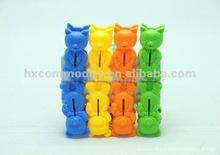 Funny design 8pcs plastic clothes pegs