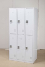 6 door locker with pad lock/electronic steel locker