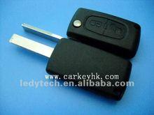 Nueva! Con el surco no logo, Citroen remoto en blanco, La llave de vivienda, 2 botones de automóviles cubierta dominante alejada