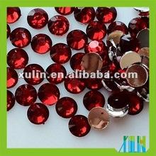 wholesale resin rhinestone beads, flat back, ss12 approx 3.0mm, 50000pcs/bag