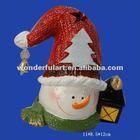 fancy ceramic snowman bell decor christmas gift