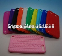Soft Tire pattern Silicone Cover Case for Apple iPod Touch 5 5th generation