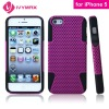 for apple's iphone 2 in 1 shock case for iphone 5